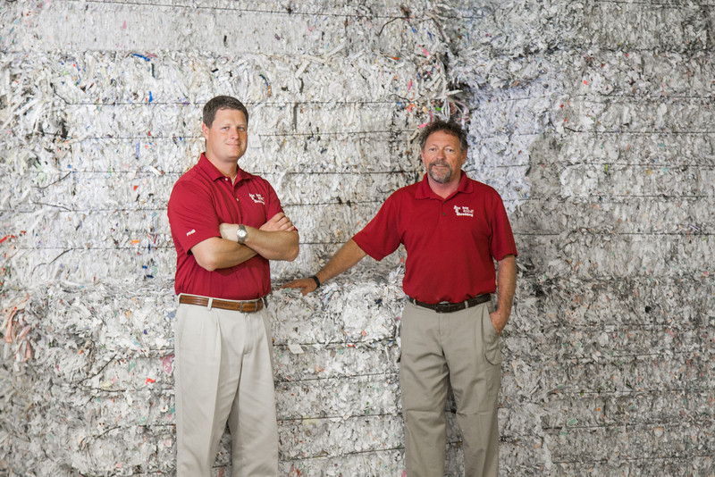 Henry Jarvis and Jim Maguire, owners of Absolute Data Shredding in Norman, OK.