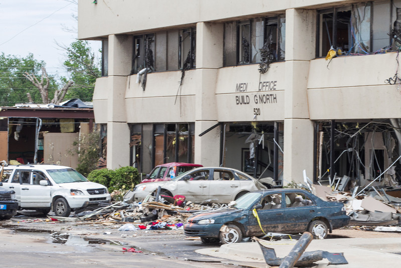 Moore Medical Center recieved heavy damage during a EF5 tornado struck on May 20, 2013.