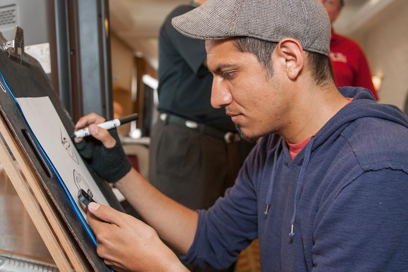 Charicaturist artist Hector Lopez.