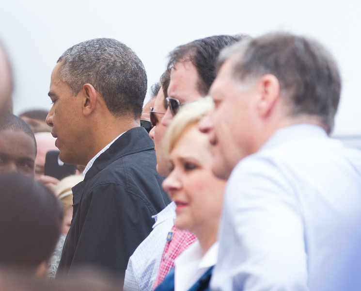 President Obama landed at Tinker Air Force Base and met first responders and victims of the tornado that swept through Moore, OK on May 20th. The president was joined by Gov. Mary Fallin and Sen. Tom Cole for a tour of areas damaged storm.