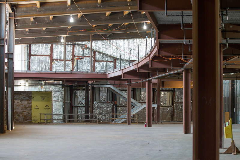 The Native American Cultrual Center under construction. As of June 2012 the center is at an estimated 50% completiion.