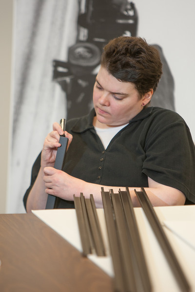 Julie Lambert works for Wyman Frame & Supply at Dale Rodgers Training Center.