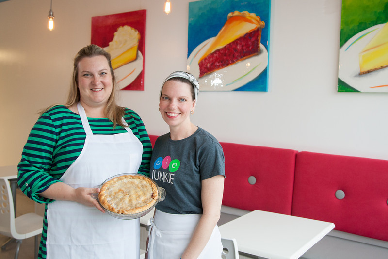 Darcy Schein and Leslie Coale-Mossman opened Pie Junkie in the Plaza District of Oklahoma City, OK.