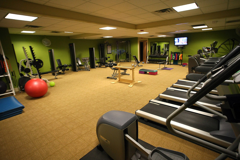 The gym of the Tulsa Country Club.