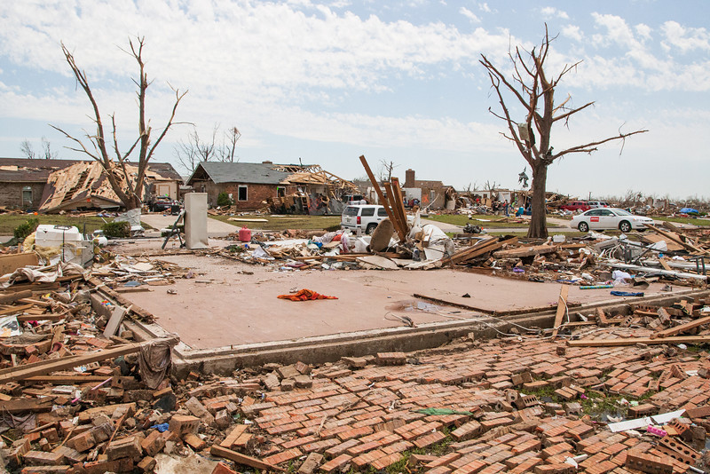 A home destroyed by the May 20th tornado in Moore, OK.