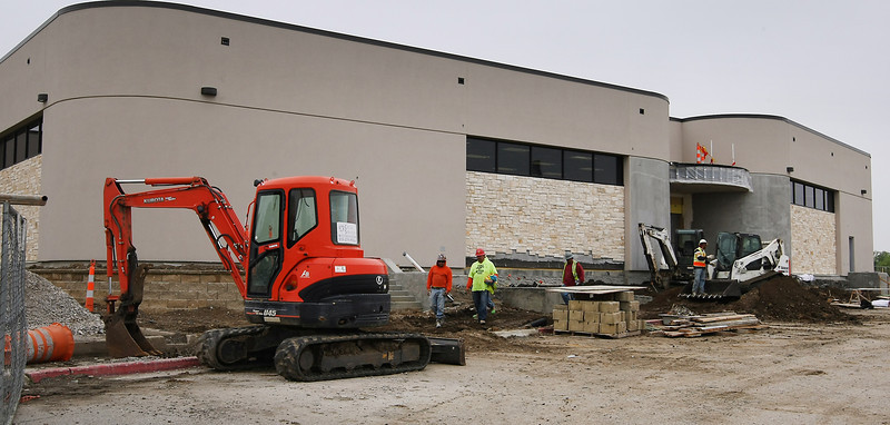 Construction continues at the union 6-7th Grade Center in Tulsa.
