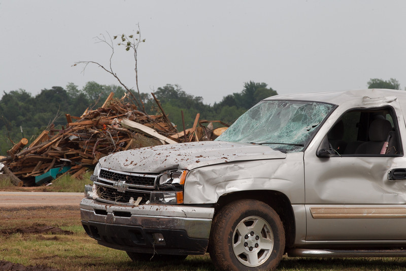 In Carney, OK cleanup and recovery is underway after and EF4 passed through the southern part of town on May 19, 2013.