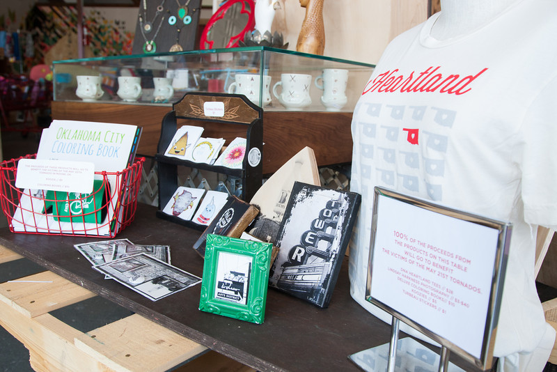 DNA Gallery, located on NW 16th in the Plaza District, has select merchendise for sale that's proceeds benifit those affected by the May 20th tornado.