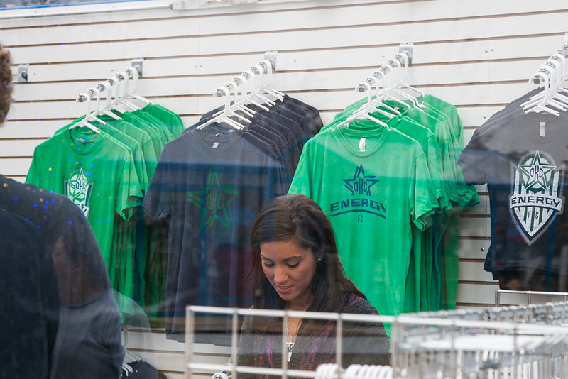The new Oklahoma City based soccar team OKC Energy has merchandise retail space at the Winter Shppes at the Myriad Gardens.