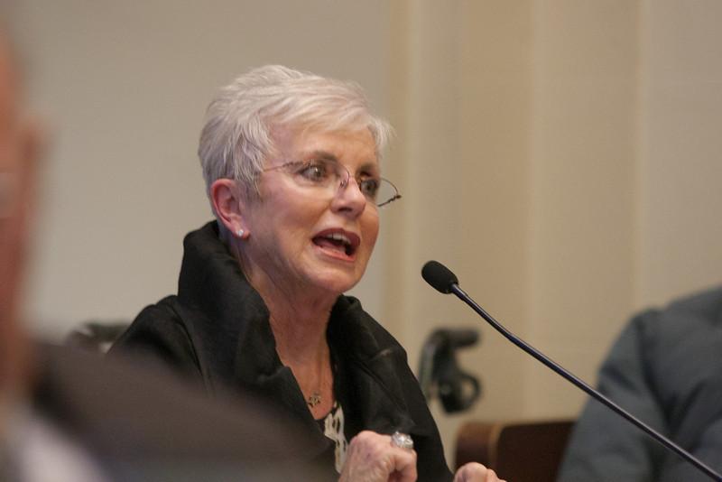 Gen Rita Aragon, Secretary of Veterns Affairs, speaking at an senate interim study on the state's VA system.