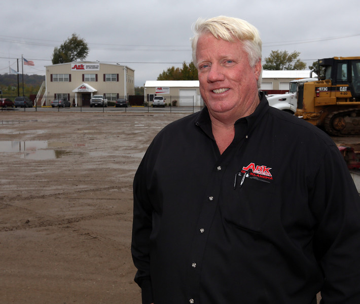 Scott Morgan, Senior Supervisor at Ark Wrecking, pauses for a photo at the companies west Tulsa Location.