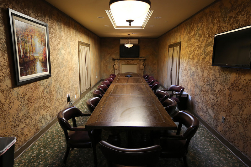 A conference room at the Campbell Hotel in Tulsa.