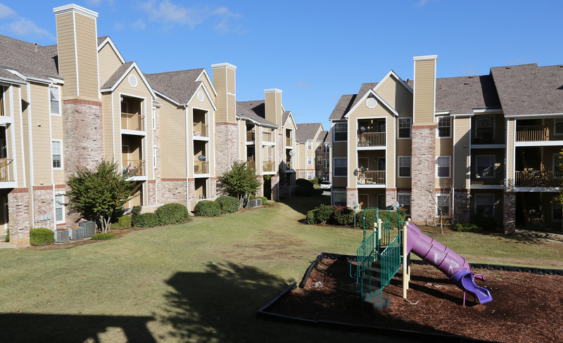 The Stonegate Apartment complex in Tulsa.