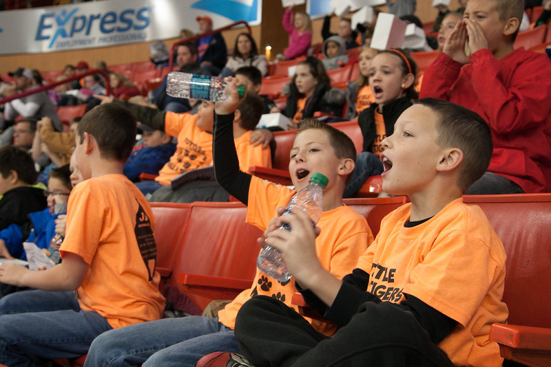 Students from accross the Oklahoma CIty metro attended a Baron's day gam at the Cox Center.