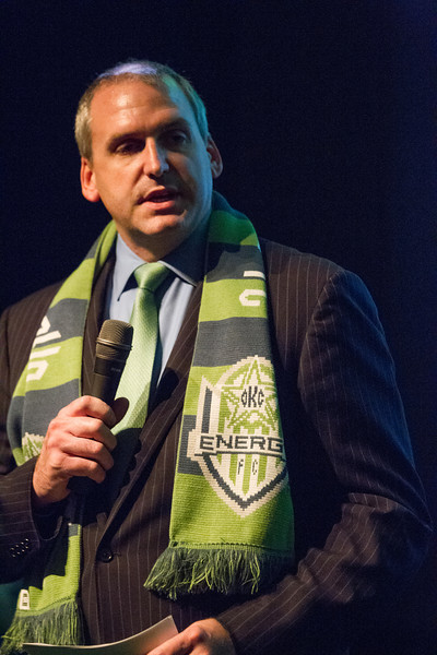 Bob Funke Jr., part owner of the new Oklahoma City Energy soccer team.