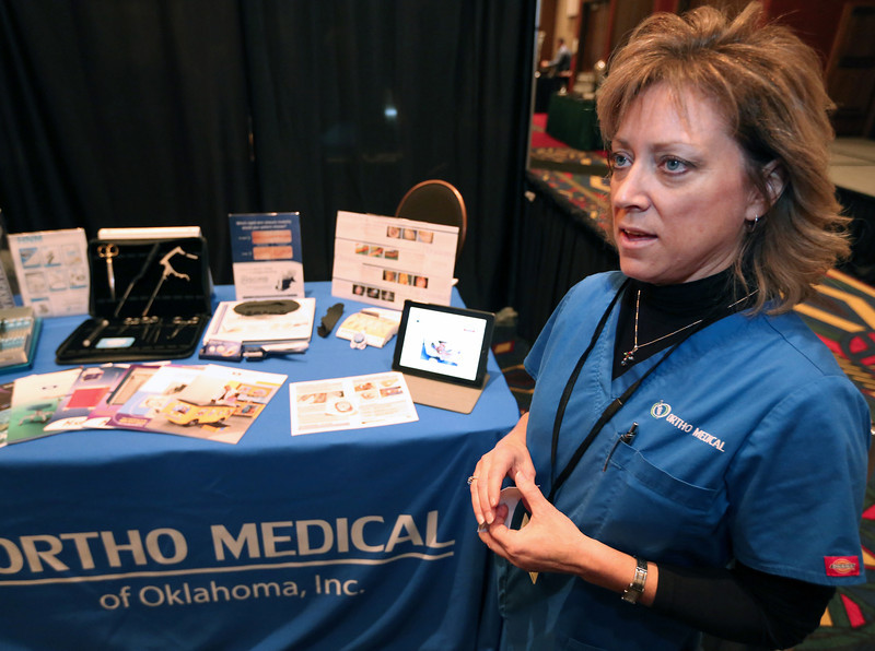 Trish Funk of Ortho Medical of Oklahoma.