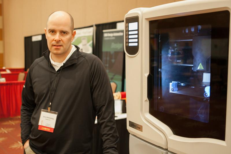 Jsse Rosenberg with 3D printer manufacture Strarasys.