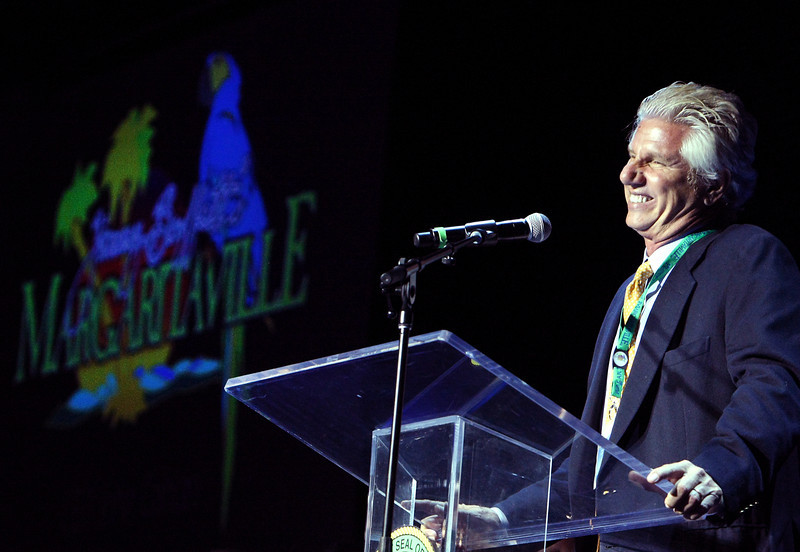 John Cohlan, Chief Executive Officer of Margaritaville, speaks at the groundbreaking ceremony of the River Spirit Casino Phase II project in Tulsa.