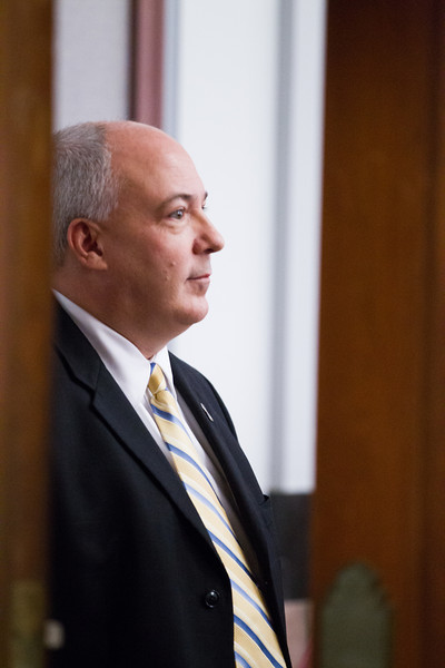 Rand Terril in the court room following his testimony on the seventh day of trial at the Oklahoma County Courthouse.