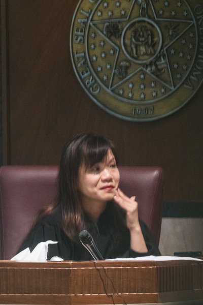 Judge Cindy Troung on the sixth day of court in the Randy Terril trial at the Oklahoma County Courthouse