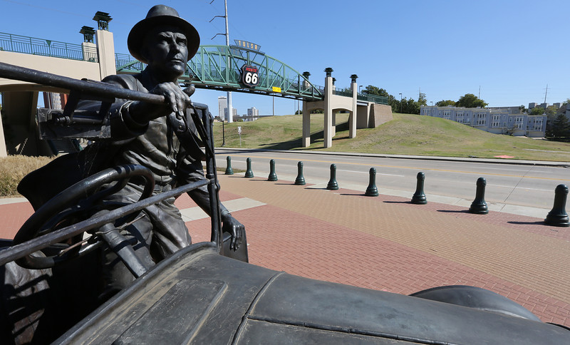 "Tulsa Mayor Dewey Bartlett Jr. asked Tulsa commercial real estate developers Thursday to help guide plans for a multimillion-dollar Route 66 cultural center.  Planned atop the hill alongside the Arkansas River,  the Route 66 pedestrian bridge and over the Southwestern Boulevard and the ""East Meets West"" bronze sculpture pictured here."