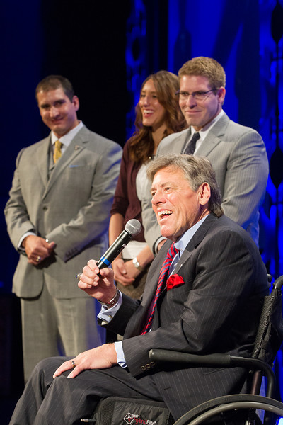 Phil Busey, owner of Deleware Resources Group, was inducted into OCU's Hall of Honor at the Mienders School of Business