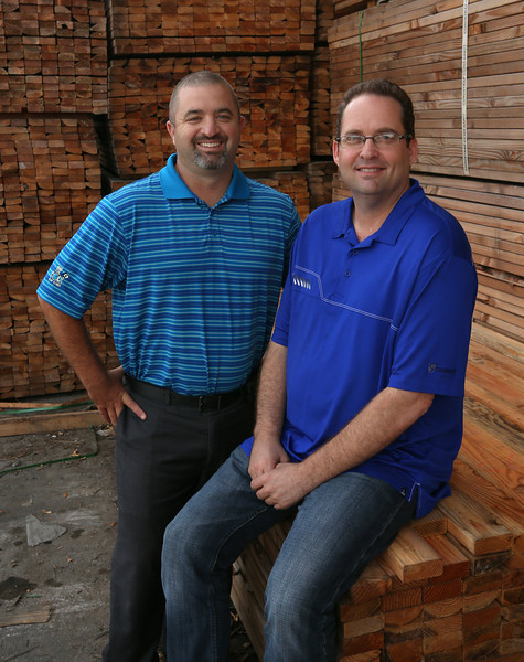 Todd Briggs and Ronnie McGlothlin pause for a photo at the companies west Tulsa location.