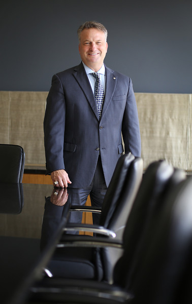 Scott Grauer, Executive VP for Wealth management at Bank of Oklahoma Financial pauses for a photo.