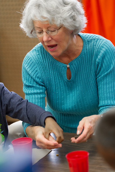 Helan Stackem works with special needs students at Southgate Elementry School in Moore OK.