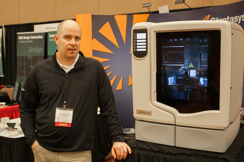 Jsse Rosenberg with 3D printer manufacture Strarasys.