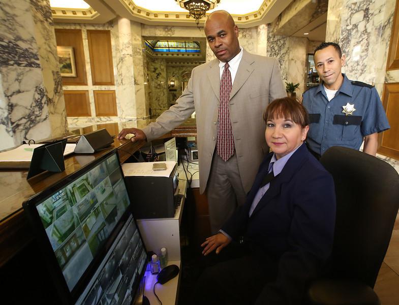 Patricia Garcia, Michael Heath and Bart Salazar of Diamond Security