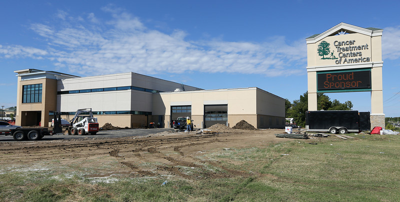 The 30,400-square-foot Cancer Treatment Centers of America's new operations building is nearing completion.  The building will allow for warehouse and storage space and three conference rooms.