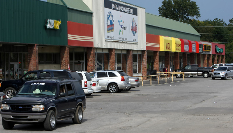 The 80,000-square-foot Northeast Plaza shopping center is one of two properties targeted in a $4.4M foreclosure lawsuit filed by NBC Oklahoma against Tulsa's Swadener Investment Properties.