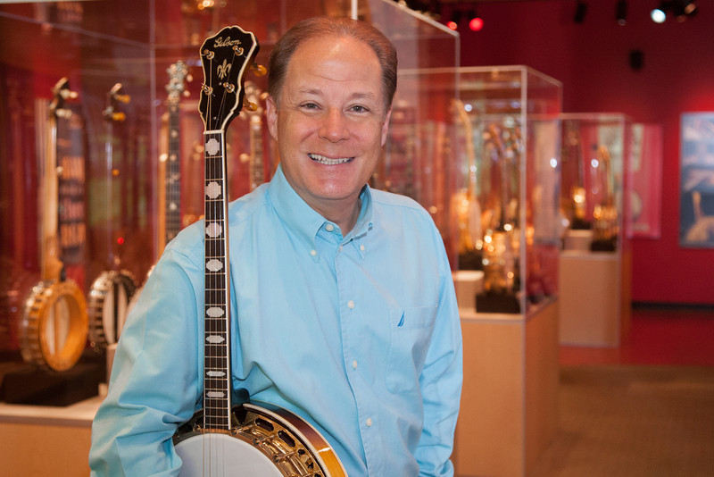 Johnny Baier, curator of the American Banjo Museum in Oklahoma City, OK.