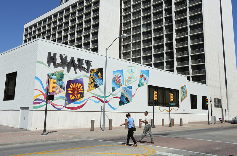 The Tulsa Hyatt Hotel in downtown Tulsa.