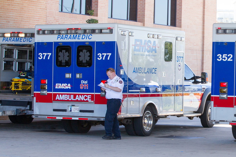 EMSA ambulances at Integris Medical Center