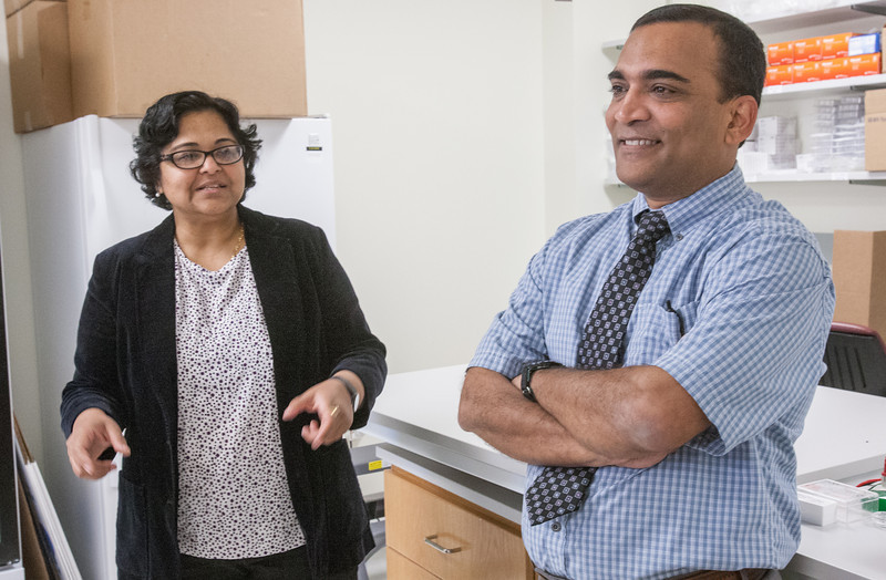 Dr Resham Bhattacharya and Dr Priyabrata Mukherjee are a husband and wife research team now working at the Stephenson Cancer Center in Oklahoma CIty, OK.