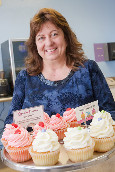 Robyn Rapella, owner of Cupcake Heaven located at 12317 N Rockwell in Oklahoma CIty, OK.