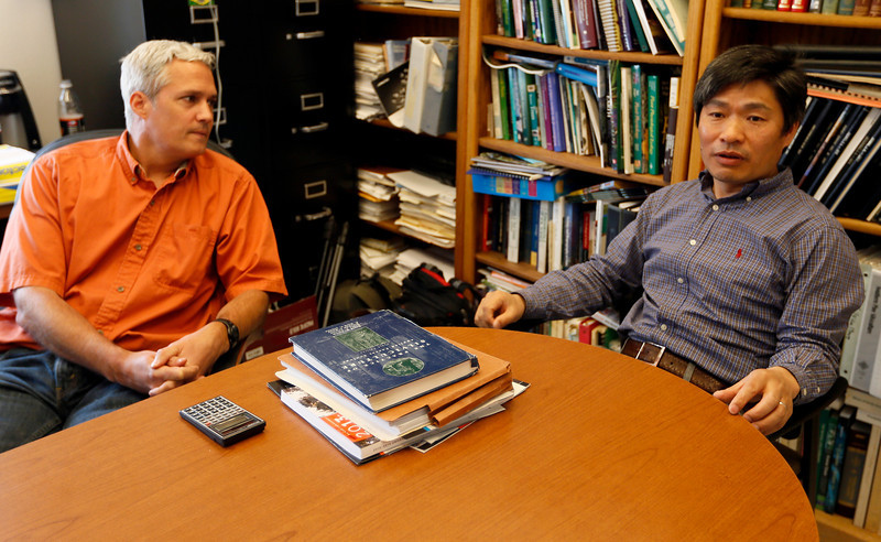 Oklahoma State University Professor Rodney Will and Assistant Professor Chris Zou.