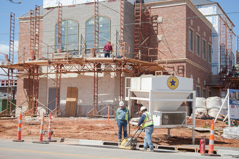 A new First National Bank is under construction at NW 50th and Western in Oklahoma CIty, OK.