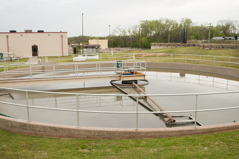 The Norman waste water treatment facility is being expanded to handle greater capacity.