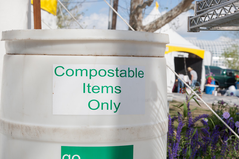 In addition to accepting recyclable items this year's Oklahoma Arts Festival will be collecting food waste for composting.