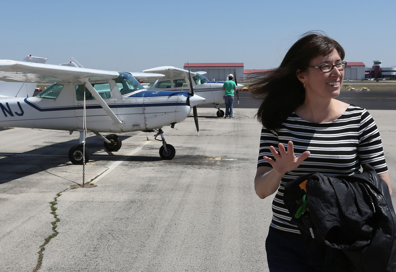 Jennifer Wise, Check Pilot and pilot for Southwest Airlines, at the Jones airport in Jenks.