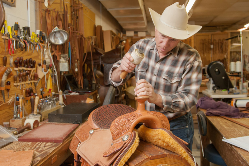 Mark Marcellus, owner of Mike's Custom Saddles and Tack in Oklahoma CIty, OK.