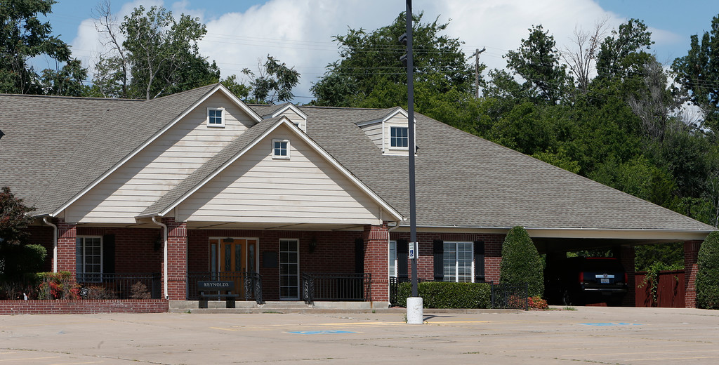 The Reynolds funeral home at 1916 S Sheridan Road in Tulsa.