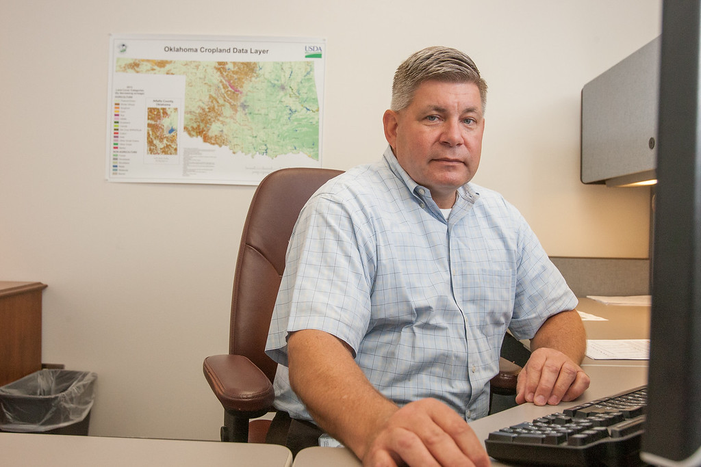 Wilbert Hundl with the National Agriculture Statistics Service field office for the USDA in Oklahoma CIty, OK.