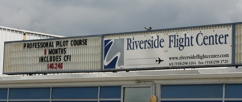 The Riverside Flight Center at the R.L. Jones Airport in Jenks.