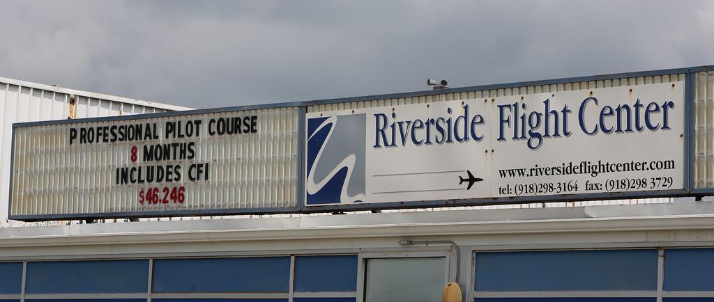 The Riverside Flight Center at the R.L. Jones Airport in Jenks.