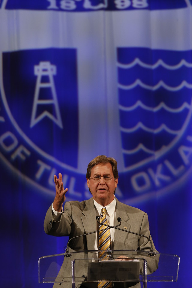 The Mayor of Tulsa Dewey Bartlett gives the state of the City address Wednesday.