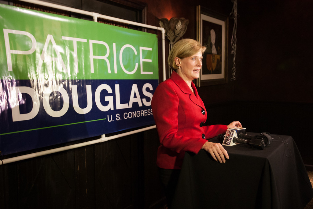 Patrice Douglas concedes her bid for Oklahoma congressional district five after losing a run-off election to Steve Russel.